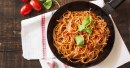 Spaghetti With Tomato Sauce And Fresh Basil