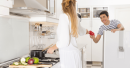 Young Couple Preparing Lunch In The Kitchen