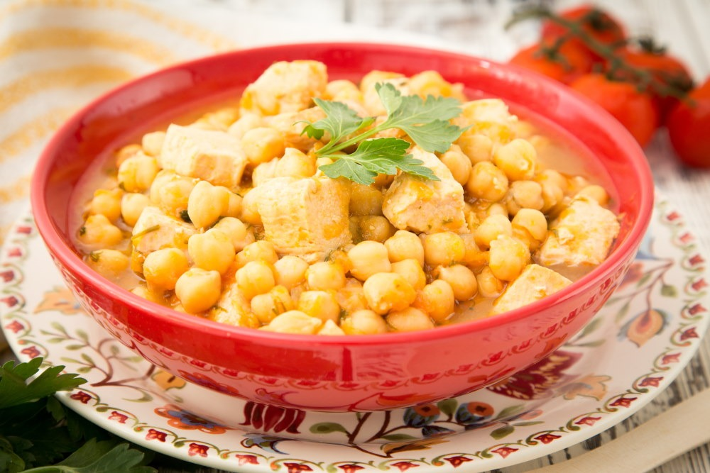 Chickpeas With Chicken