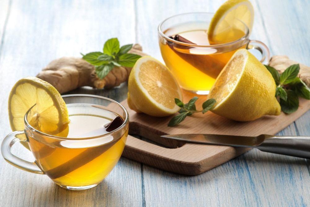 Tea with lemon and ginger