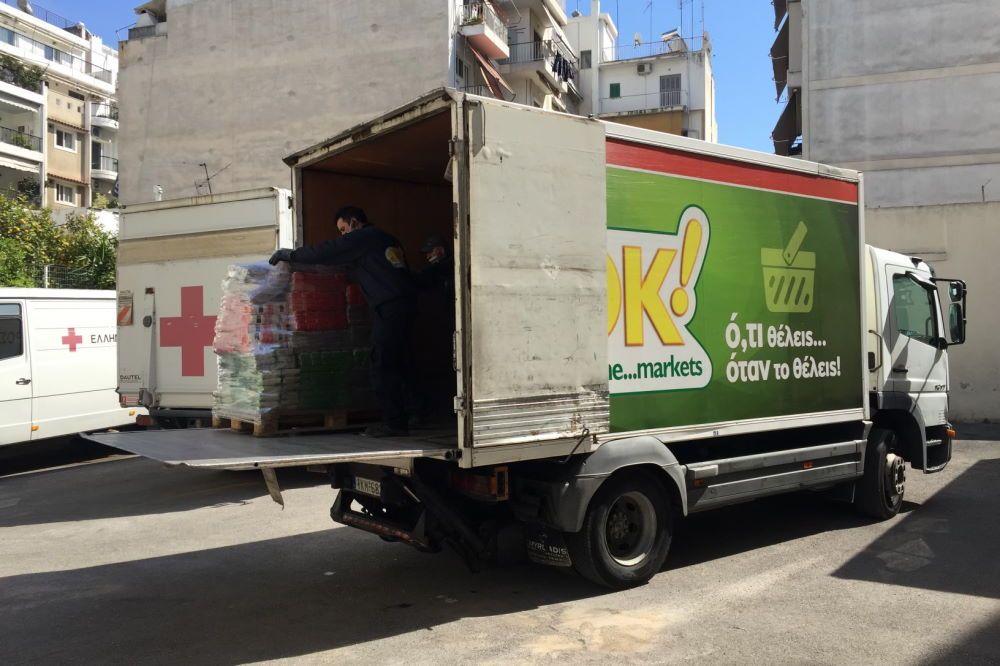 Τα ΟΚ! Anytime Markets συνεισφέρουν στο έργο του ΕΛΛΗΝΙΚΟΥ ΕΡΥΘΡΟΥ ΣΤΑΥΡΟΥ για παροχή τροφίμων στους σεισμοπαθείς της Θεσσαλίας